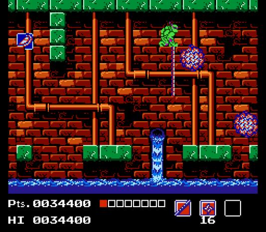 Les égouts de New York sont à l'honneur dans «Mario Bros.» et dans les adaptations des «Tortues Ninja», comme ici, sur NES.