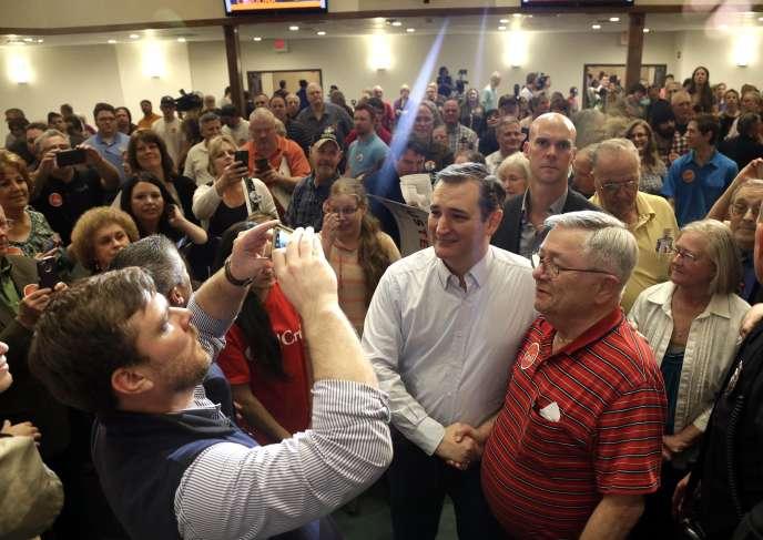 Le sénateur du Texas Ted Cruz lors d'un meeting à Kannapolis, en Caroline du Nord, mardi 8 mars 2016.