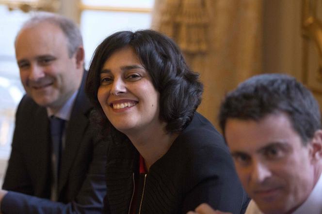 Myriam El Khomri à l'Hôtel Matignon, mercredi 9 mars.