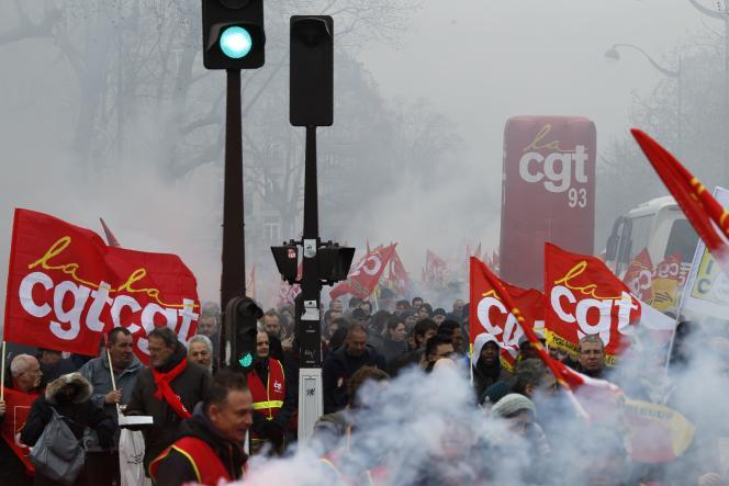 Manifestation contre la loi travail, le 9 mars à Paris.