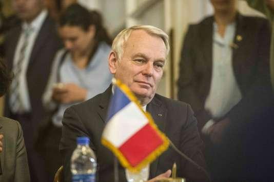 Jean-Marc Ayrault, au Caire, le 9mars.