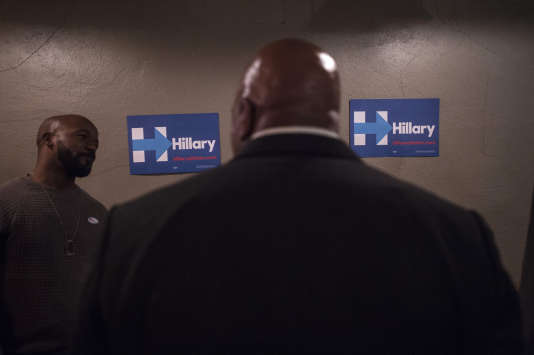 Soirée de vote dans la camps des démocrates d'Hillary Clinton, le 8 mars.