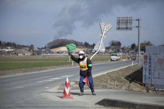 Le bourg d'Odaka, à Minamisoma, à l'intérieur de la zone des 20 kilomètres autour de la centrale nucléaire de Fukushima, le 24 février.