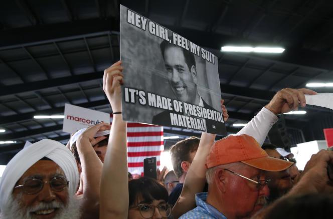 Une supportrice du républicain Marco Rubio, à Sarasota, en Floride, le 8 mars.