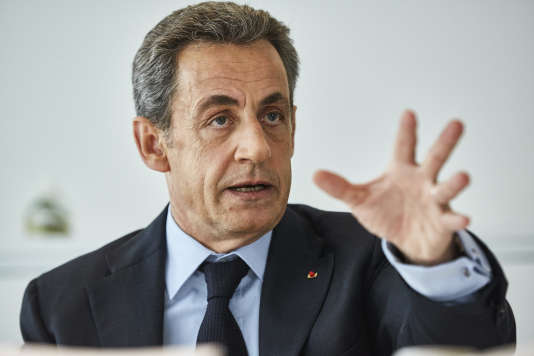 Nicolas Sarkozy, au siège des Républicains, à Paris, le 8 mars.