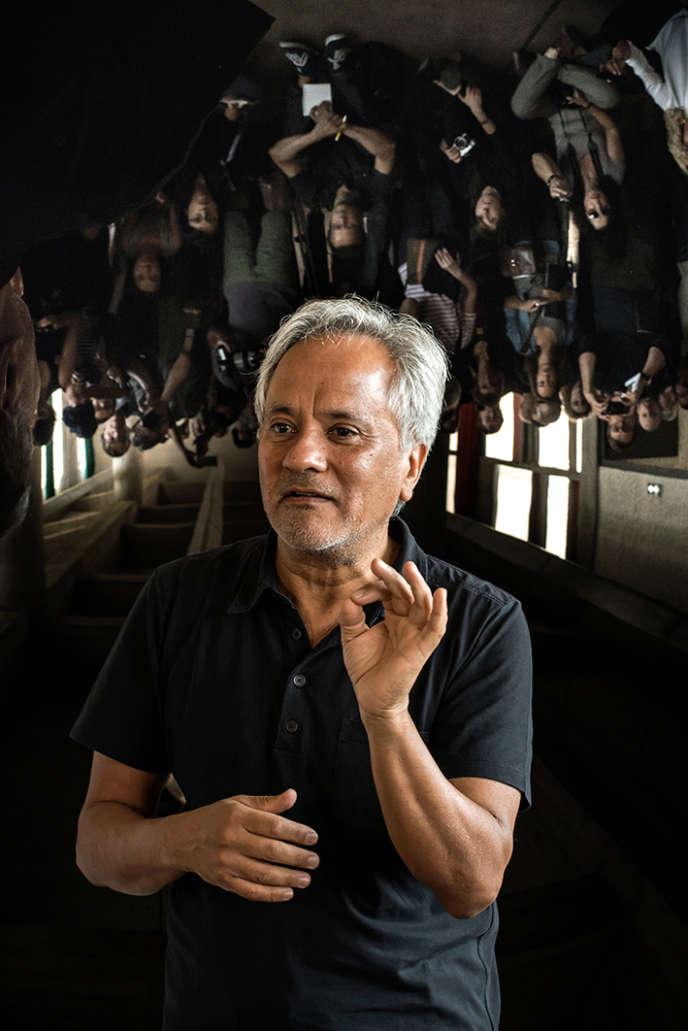 L'artiste Anish Kappor, lors d'une conférence à Evreux, en septembre 2015.
