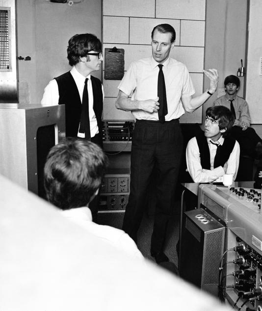"""George Martin, le """"cinquième Beatle""""."""