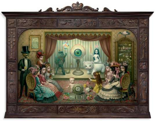 """The Parlour (Allegory of Magic, Quintessence, and Divine Mystery)"" (2012), de Mark Ryden."