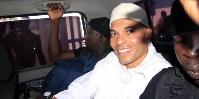 Karim Wade à Dakar, le 31 juillet 2014.