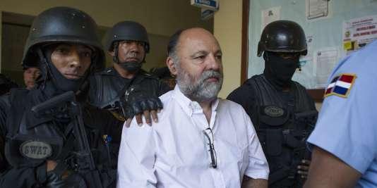 Christophe Naudin, à son arrivée au tribunal dominicain, le 8mars.