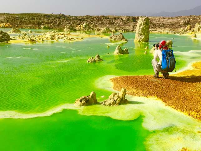 Le lac de lave Erta Ale et ses couleurs étonnantes...