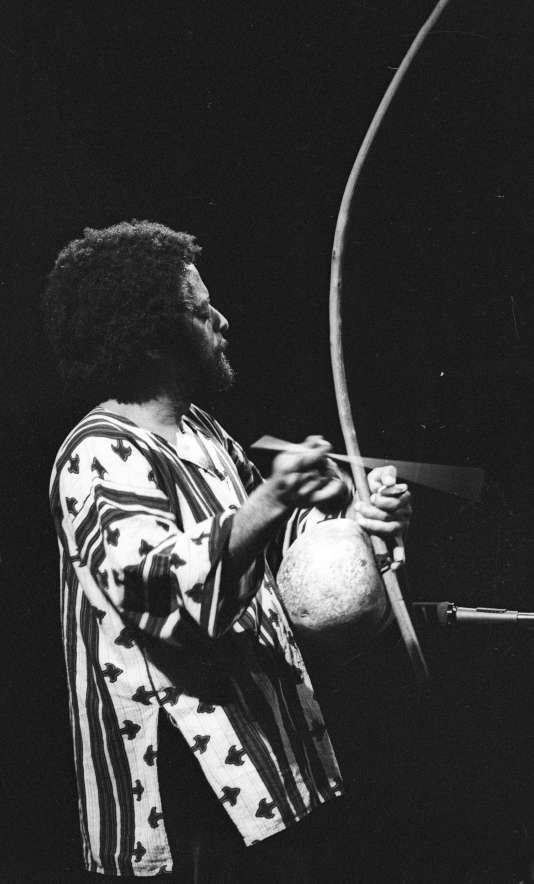 Naná Vasconcelos à San Francisco (Californie) en 1978.