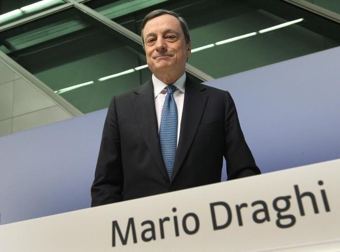Mario Draghi, le président de la Banque centrale européenne, le 10 mars à Francfort.