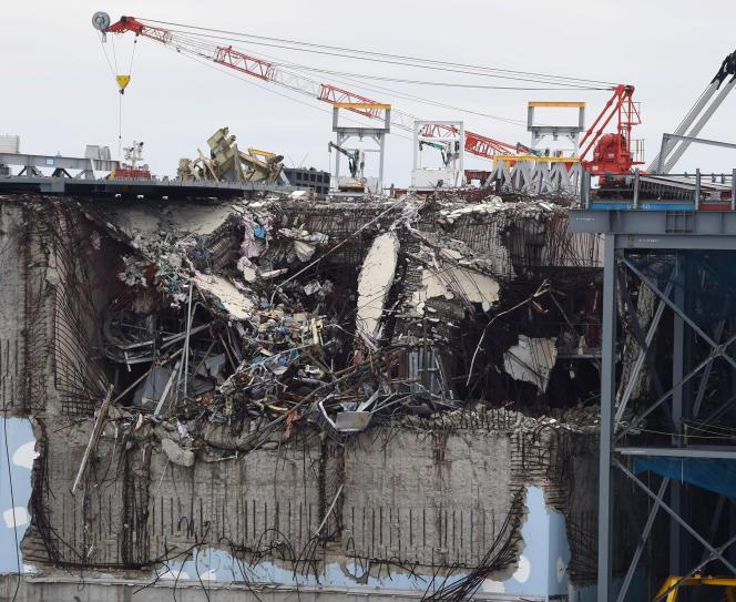 Le réacteur 3 de la centrale de Fukushima, en février 2015.