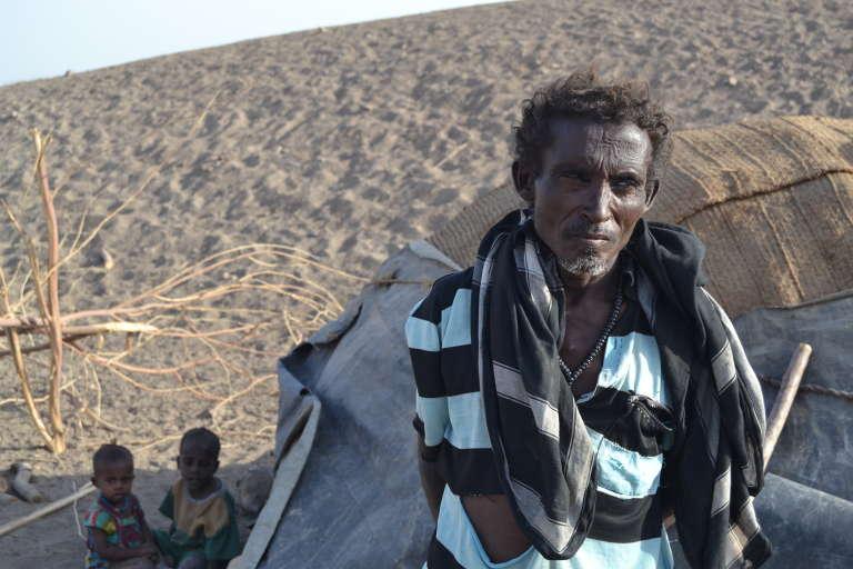 Près de Dubti, village de la région de l'Afar, dans le nord-est de l'Ethiopie, où sévit la pire sécheresse depuis cinquante ans, selon l'ONU.