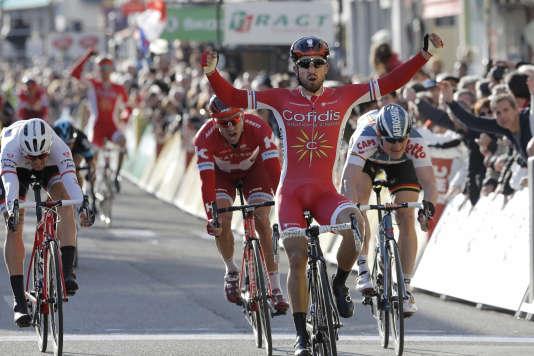 Nacer Bouhanni a remporté son deuxième succès de la saison sur Paris-Nice, jeudi10mars.