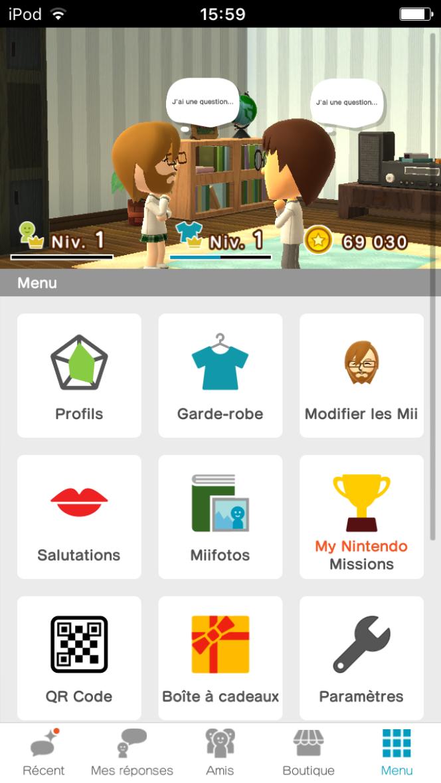 Miitomo est à cheval entre un mini-Facebook et un monde virtuel de poche.