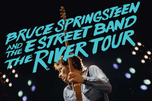 Affiche du The River Tour de Bruce Springsteen & The E Street Band.