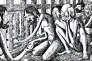 Croquis réalisé par le capitaine G. H. Pauwels emprisonné et torturé dans les géoles japonaises en 1945