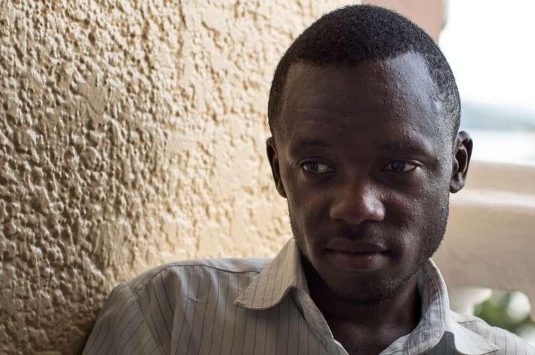 Un membre du mouvement de la lutte pour le changement, Lucha, le 26 mars, Goma