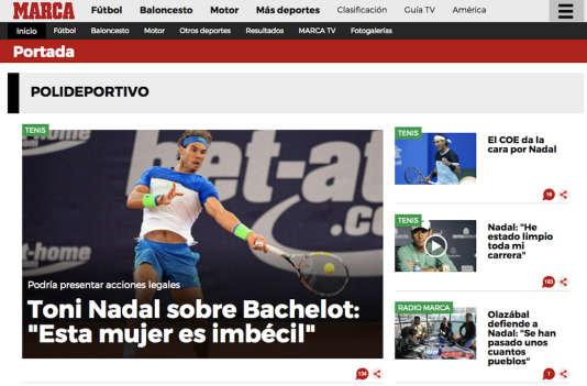 Le site Internet du quotidien sportif «Marca», le 10 mars 2016.