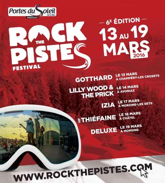 Affiche de la sixième édition du festival Rock The Pistes.