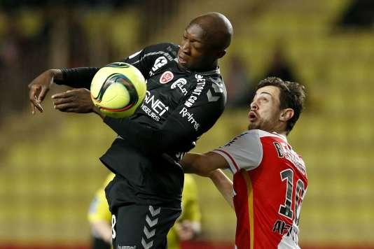 Lors de la rencontre Monaco-Reims.