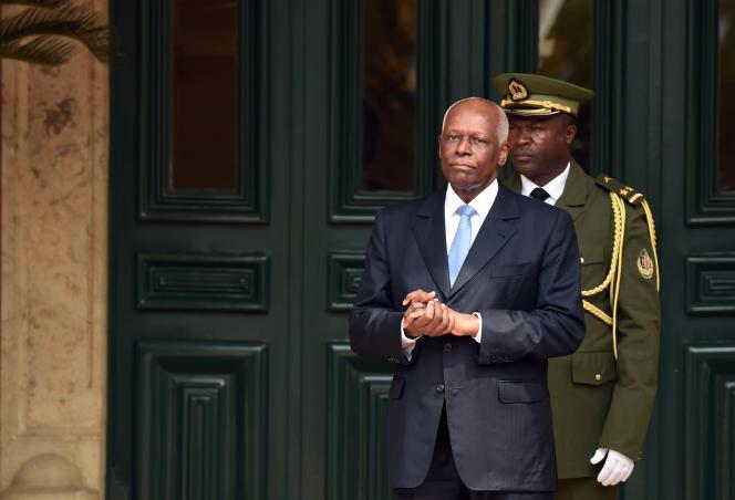Le président angolais Jose Eduardo Dos Santos le 3 juillet 2015 à Luanda.