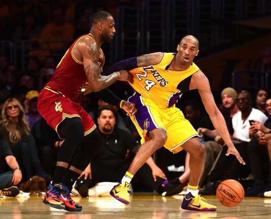 LeBron James et Kobe Bryant se sont affrontés pour la dernière fois le 10mars au soir.