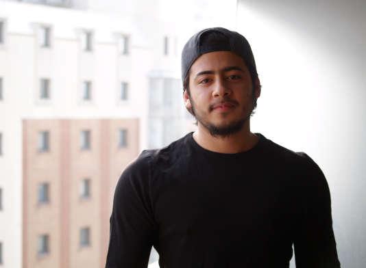 """Faouzi, 20 ans, a fui Alep en juillet 2015. """"Il n'y avait plus d'avenir pour moi en Syrie"""", dit-il."""