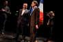 Xavier Bertrand (à gauche) est venu soutenir Julien Dive, candidat à sa succession comme député de l'Aisne, lors d'un meeting à Saint-Quentin, le10 mars.