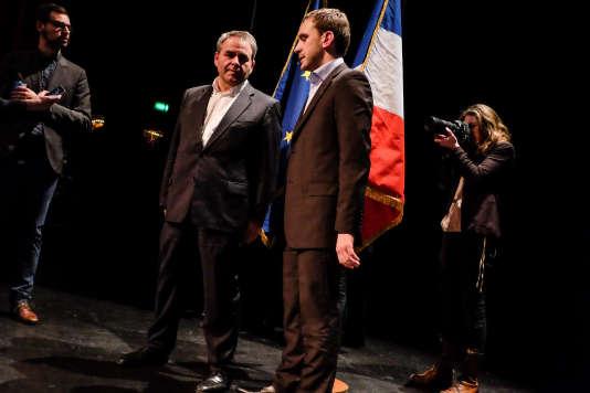 Meeting de soutien au candidat Julien Dive, pour les législatives partielles, à Saint-Quentin, le 8 mars.