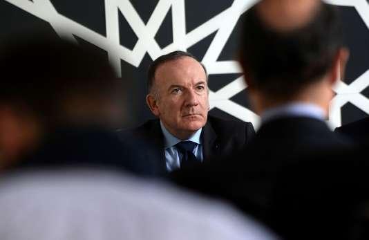 Le patron du Medef, Pierre Gattaz, à Rabat au Maroc, le 11 mars.