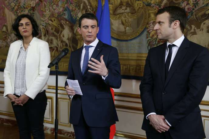 A 14 h 30 lundi 14 mars, le premier ministre Manuel Valls, entouré de Myriam El Khomri (travail) et Emmanuel Macron (économie), livrera aux partenaires sociaux sa nouvelle mouture de la loi sur le travail.  tractations des derniers jours.