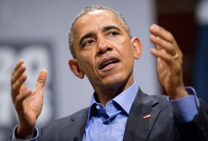Barack Obama au festival SXSW, à Austin, vendredi 11 mars.