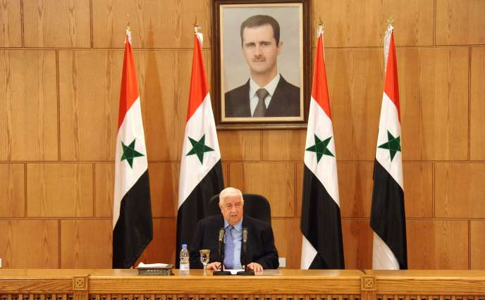 Le ministre syrien des affaires étrangères Walid Moallem, a affirmé le 12 mars, à Damas, que le sort du président Bachar Al-Assad  était une