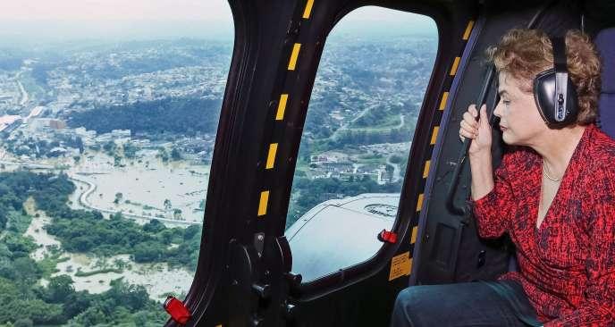 La présidente du Brésil Dilma Rousseff, le 12 mars.