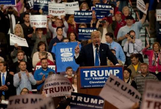 Le candidat à l'investiture républicaine, Donald Trump, lors d'un rassemblement de campagne à Cleveland, dans l'Ohio, le 12 mars.