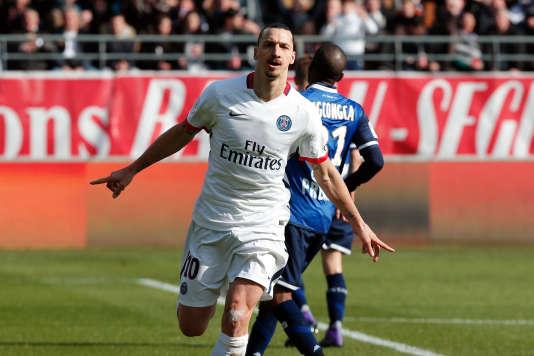 Le Paris Saint-Germain de Zlatan Ibrahimovic a battu Troyes 9 à 0 dimanche 13 mars.