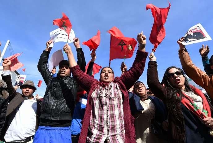 Manifestation contre les propos du secrétaire général de l'ONU, Ban Ki-moon, après qu'il a évoqué l'
