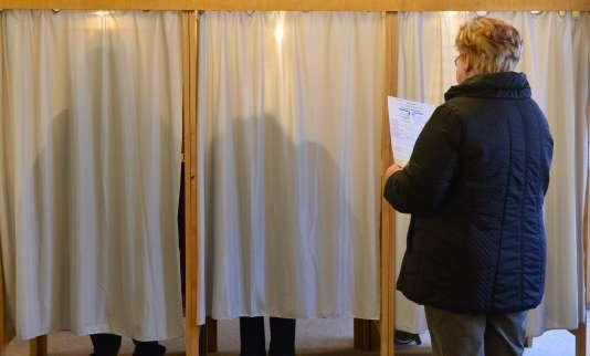 Un bureau de vote en Saxe-Anhalt.