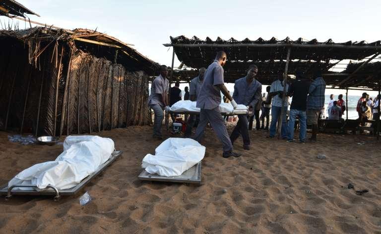 Un commando islamiste a ouvert le feu sur une plage de Grand-Bassam, au sud-est d'Abidjan, le 13mars.