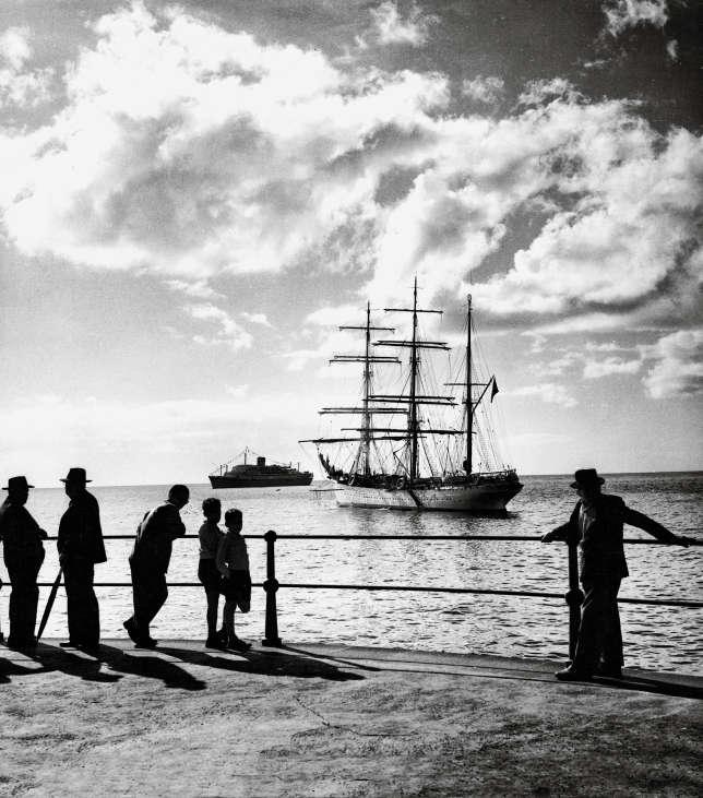 La baie de Funchal à Madère en 1956.