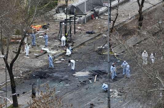 Onze suspects ont été arrêtés lundi par la police turque dans le cadre de l'enquête sur l'attentat perpétré dimanche 13 mars à Ankara (37 morts).
