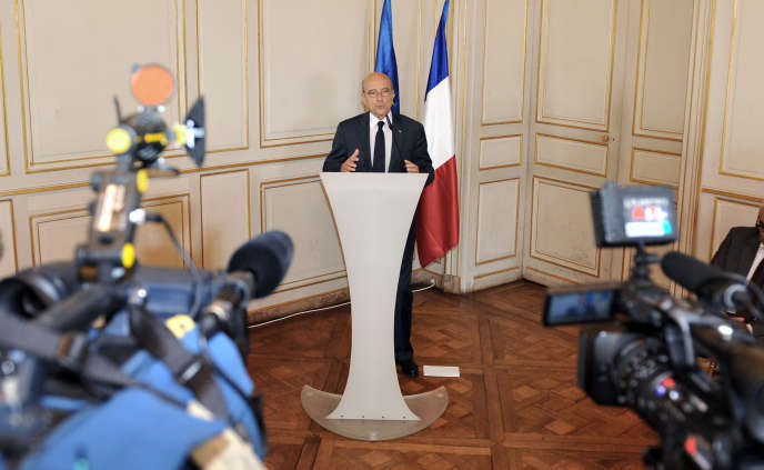 Le ministre des affaires étrangères Alain Juppé en mai 2011.