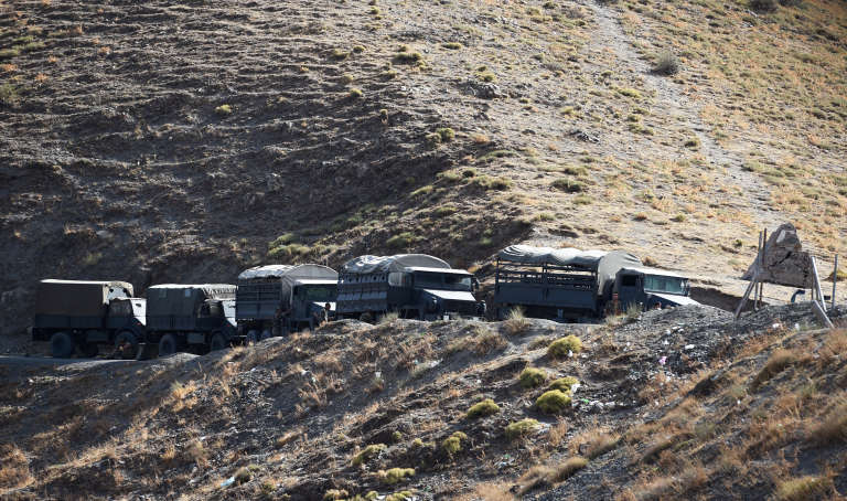 L'armée algérienne près de Tizi Ouzou, en septembre2014.