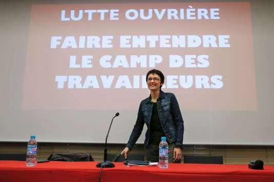 Nathalie Arthaud, le 14 mars à Paris.