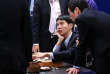 """In this handout photo provided by Google DeepMind on March 15, 2016, Lee Se-Dol (C, seated), one of the greatest modern players of the ancient board game Go, reviews the game after the fifth and final game of the Google DeepMind Challenge Match against Google-developed supercomputer AlphaGo at a hotel in Seoul on March 15, 2016. A Google-developed computer programme had the last word in its machine vs human challenge with South Korean Go grandmaster Lee Se-Dol, winning the final game for a sweeping 4-1 series victory. - RESTRICTED TO EDITORIAL USE - MANDATORY CREDIT """"AFP PHOTO / GOOGLE DEEPMIND"""" - NO MARKETING NO ADVERTISING CAMPAIGNS - DISTRIBUTED AS A SERVICE TO CLIENTS    / AFP / Google DeepMind / Google DeepMind / RESTRICTED TO EDITORIAL USE - MANDATORY CREDIT """"AFP PHOTO / GOOGLE DEEPMIND"""" - NO MARKETING NO ADVERTISING CAMPAIGNS - DISTRIBUTED AS A SERVICE TO CLIENTS"""