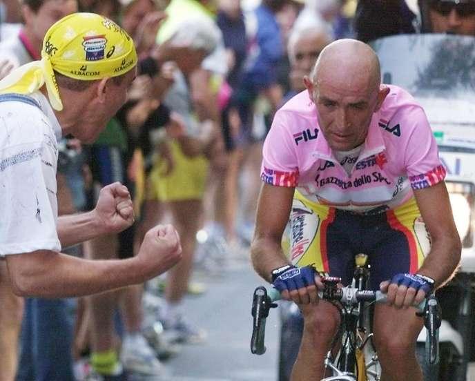 Marco Pantani sur le Giro en 1999.