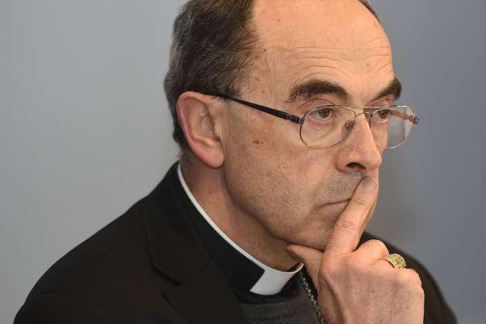 Le cardinal Barbarin à Lourdes, le 15 mars.